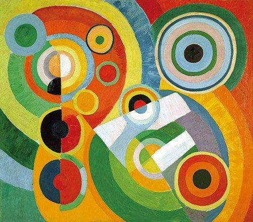 quadros-abstratos - Quadro - Ritmo, alegria de viver, 1930 - - Delaunay, Robert