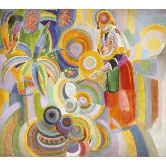 pinturas de retratos - Quadro - Mulher Portuguesa, 1916 - - Delaunay, Robert