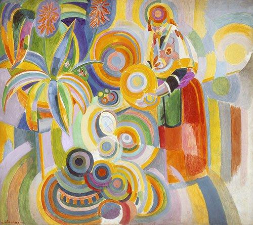 quadros-abstratos - Quadro - Mulher Portuguesa, 1916 - - Delaunay, Robert