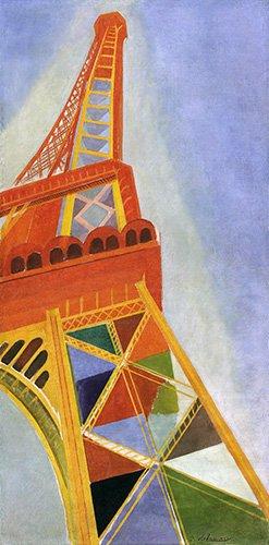 quadros-abstratos - Quadro - A Torre Eiffel, 1926 - - Delaunay, Robert