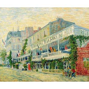 - Quadro -Restaurant de la Sirène, Asnieres, 1887- - Van Gogh, Vincent