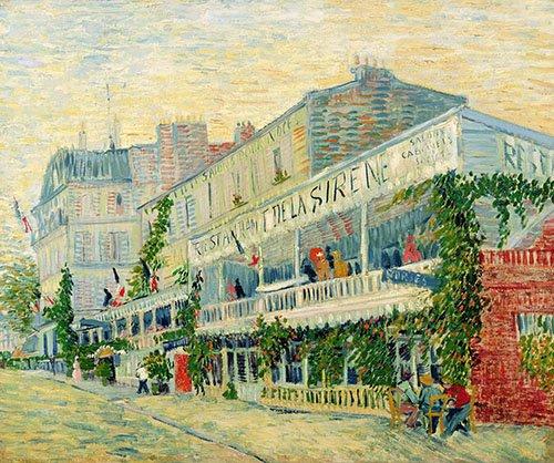 quadros-de-paisagens - Quadro -Restaurant de la Sirène, Asnieres, 1887- - Van Gogh, Vincent