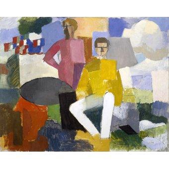 pinturas de retratos - Quadro -14 de julho- - Fresnaye, Roger de la