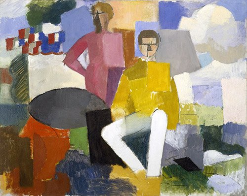 pinturas-de-retratos - Quadro -14 de julho- - Fresnaye, Roger de la