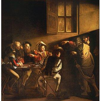 quadros religiosos - Quadro -A Chamada de São Mateus - - Caravaggio, Michelangelo M.