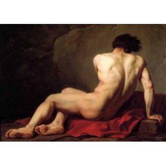 - Quadro -Hombre desnudo conocido como Patroclus- - David, Jacques Louis