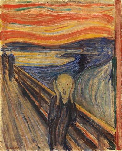 pinturas-de-retratos - Quadro -O Grito, 1893- - Munch, Edvard