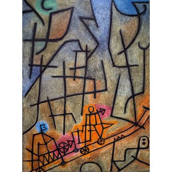 - Quadro - Conquest of the Mountain - - Klee, Paul