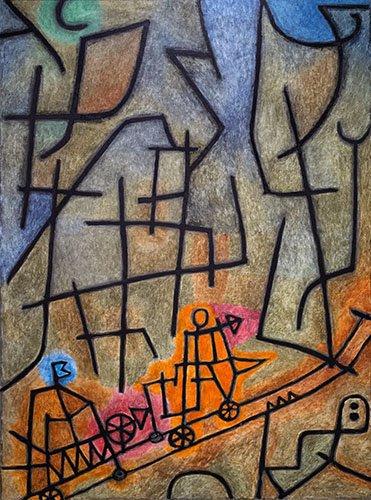 quadros-abstratos - Quadro - Conquest of the Mountain - - Klee, Paul