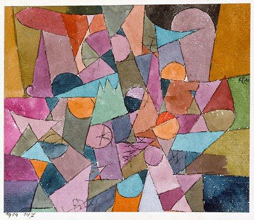 quadros-abstratos - Quadro - Untitled, 1914 - - Klee, Paul