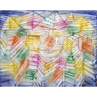 Quadros para quarto - Quadro - Teatro, Montanha, Construção - - Klee, Paul