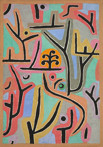 quadros-abstratos - Quadro - Park bei Lu,1938 - - Klee, Paul