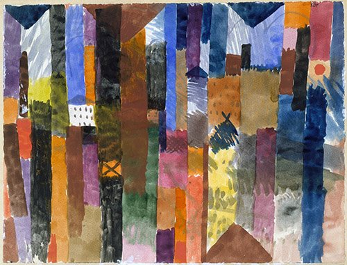 quadros-abstratos - Quadro - Na frente da cidade - - Klee, Paul