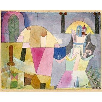 - Quadro - Colunas pretas em uma paisagem - - Klee, Paul