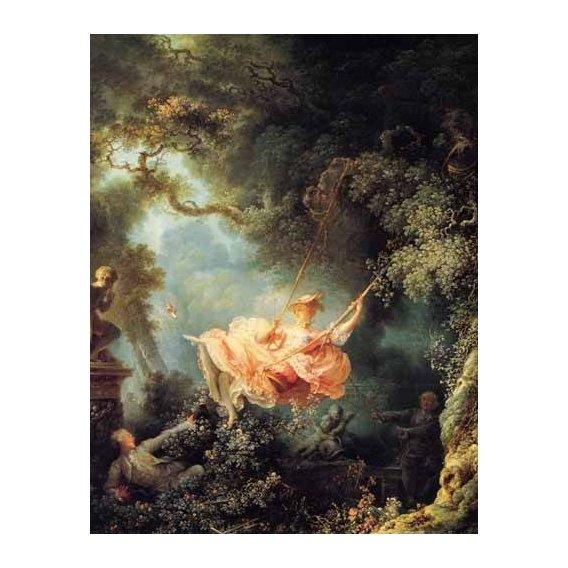 pinturas do retrato - Quadro -El columpio-