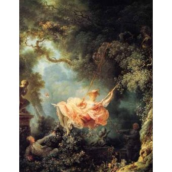 - Quadro -El columpio- - Fragonard, Jean Honoré