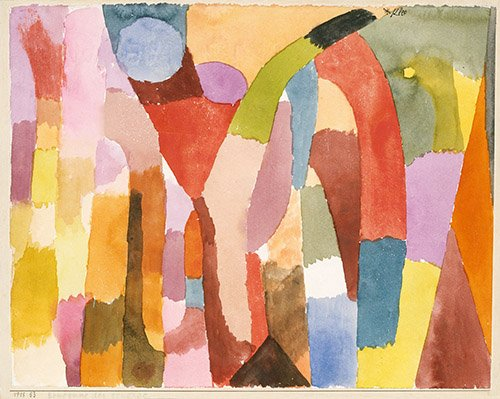 quadros-abstratos - Quadro - Movimento da abóbada - - Klee, Paul