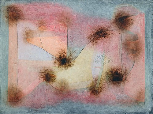 quadros-abstratos - Quadro - Plantas resistentes - - Klee, Paul