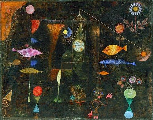 quadros-abstratos - Quadro - Fish Magic - - Klee, Paul