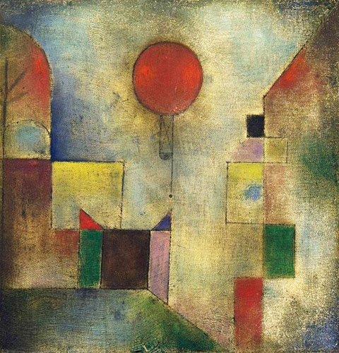 quadros-abstratos - Quadro - Red Balloon, 1922 - - Klee, Paul