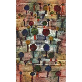 - Quadro - Paisagem rítmica de árvores, 1920 - - Klee, Paul