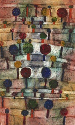quadros-abstratos - Quadro - Paisagem rítmica de árvores, 1920 - - Klee, Paul