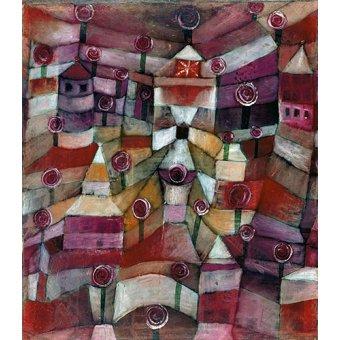 - Quadro - Jardim de rosas - - Klee, Paul