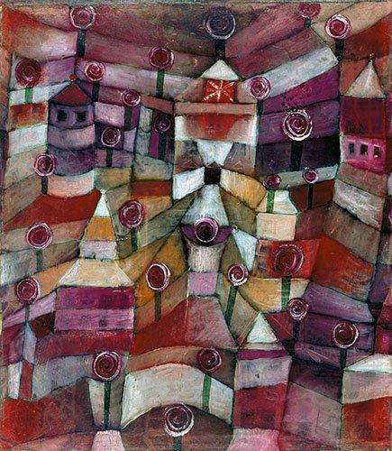 quadros-abstratos - Quadro - Jardim de rosas - - Klee, Paul