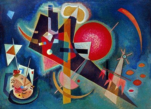 quadros-abstratos - Quadro - Em azul, 1925 - - Kandinsky, Wassily
