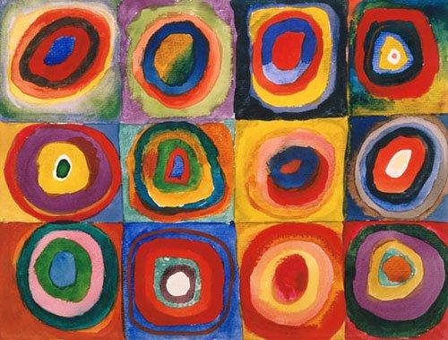 quadros-abstratos - Quadro - Círculos concêntricos, 1913 - - Kandinsky, Wassily