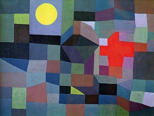 quadros-abstratos - Quadro - Fogo, Lua Cheia, 1933 - - Klee, Paul