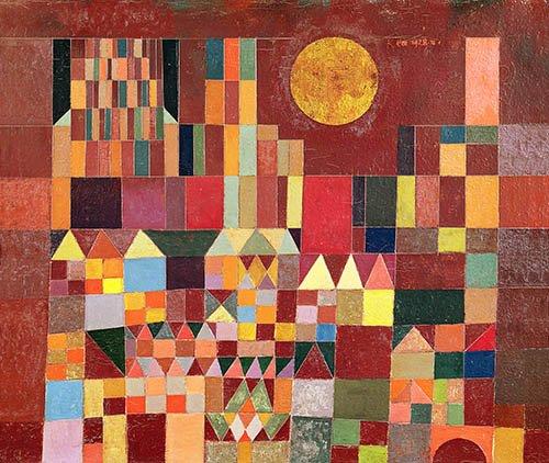 quadros-abstratos - Quadro - Castelo e sol, 1928 - - Klee, Paul