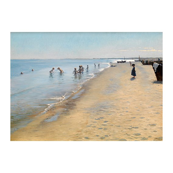 Quadro -Summer Day at the South Beach of Skagen-