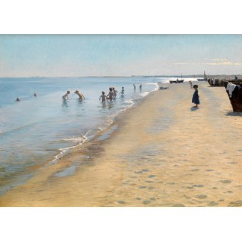 - Quadro -Summer Day at the South Beach of Skagen- - Kroyer, Peder Severin