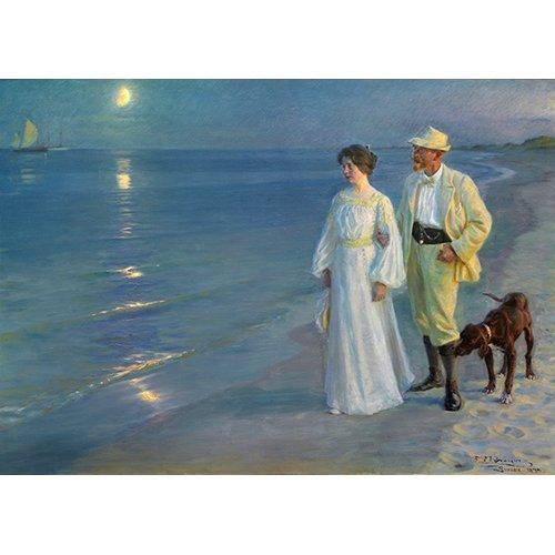Quadro -Sommeraften_ved_Skagens_strand., 1899-
