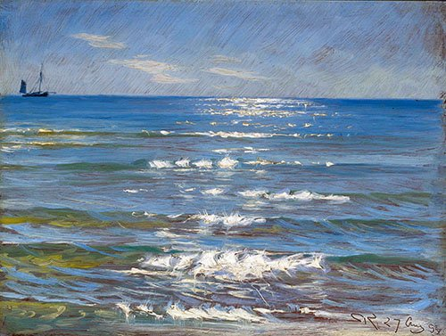 quadros-de-paisagens-marinhas - Quadro -Eftermiddagssol og Havblik- - Kroyer, Peder Severin