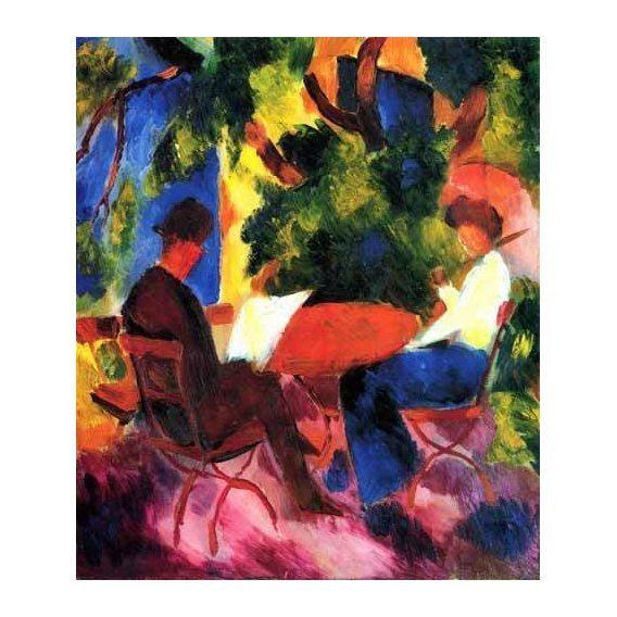 pinturas do retrato - Quadro -August Macke 034-