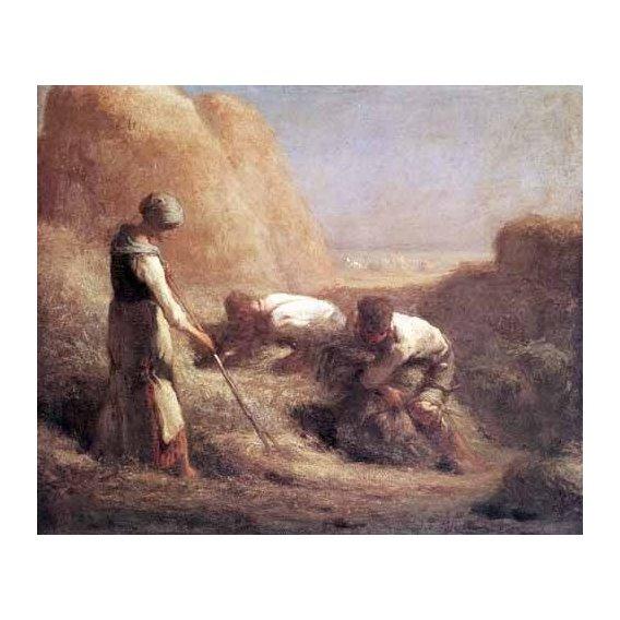 pinturas de paisagens - Quadro -Les Batteleurs (1850)-