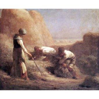 - Quadro -Les Batteleurs (1850)- - Millet, Jean François