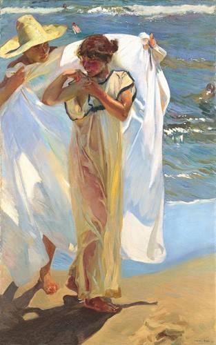 cuadros decorativos - Cuadro -Saliendo del baño- - Sorolla, Joaquin