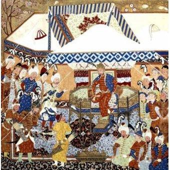 - Quadro -La Corte Turco-Mongolia del Emperador Tamerlan- - _Anónimo Persa