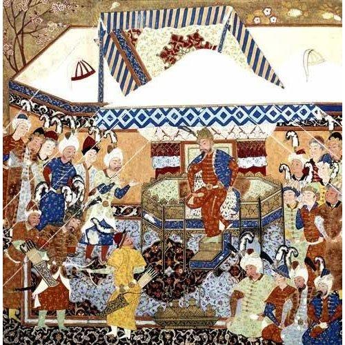 imagens étnicas e leste - Quadro -La Corte Turco-Mongolia del Emperador Tamerlan-