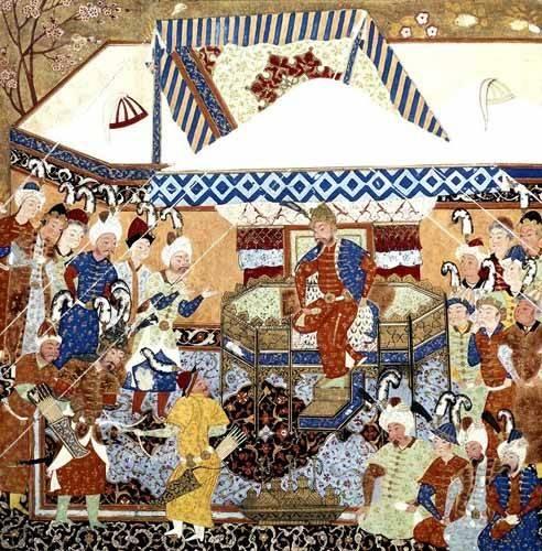 ethnic and oriental paintings - Picture -La Corte Turco-Mongolia del Emperador Tamerlan- - _Anónimo Persa