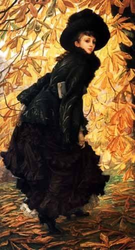 cuadros de retrato - Cuadro -Octubre- - Tissot, James