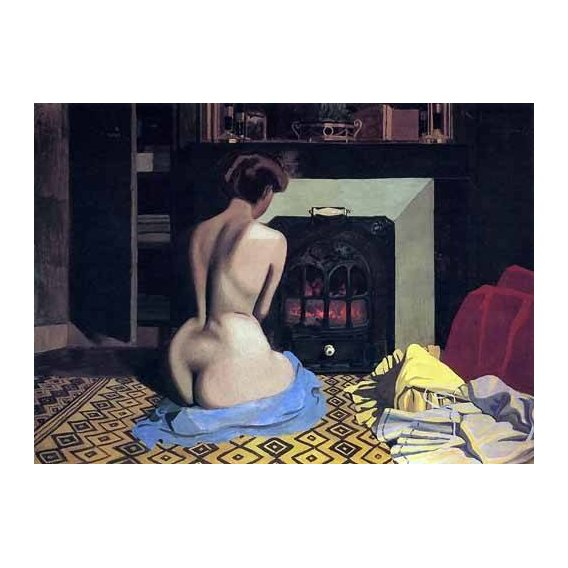 pinturas do retrato - Quadro -Nude at the Store-