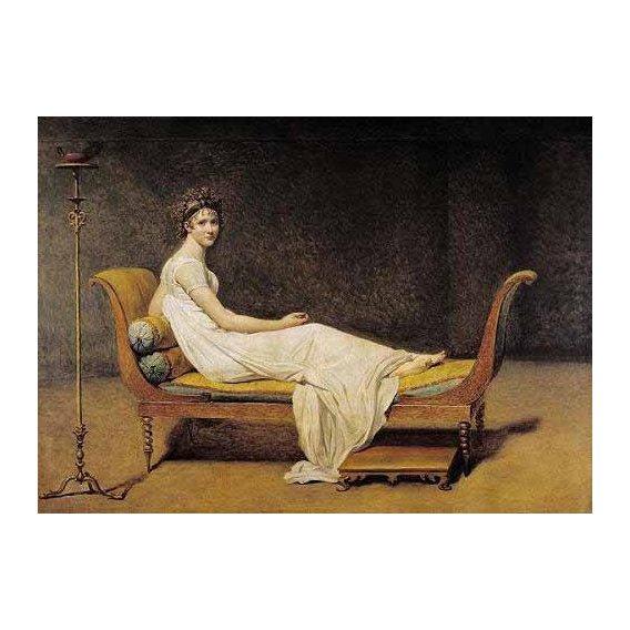 pinturas do retrato - Quadro -Mme. Recamier-