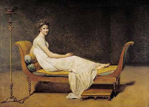 pinturas-de-retratos - Quadro -Mme. Recamier- - David, Jacques Louis