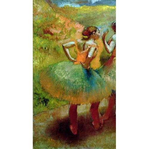 pinturas do retrato - Quadro -Las bailarinas de las faldas verdes-
