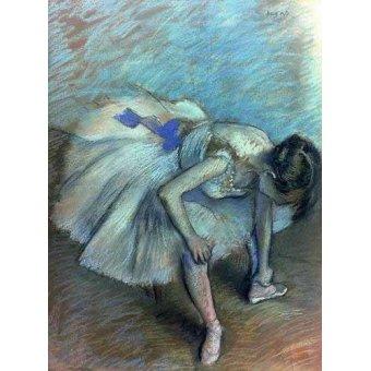 - Quadro -Bailarina sentada- - Degas, Edgar