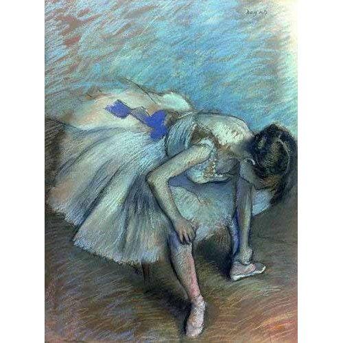Quadro -Bailarina sentada-
